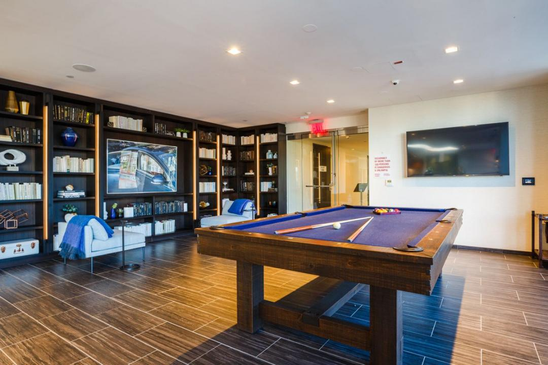 Billiard room at Level - 2 North 6th Place apartments for rent