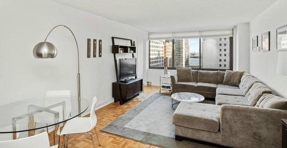 Living room at 300 East 51st Street - NYC Rental Apartments