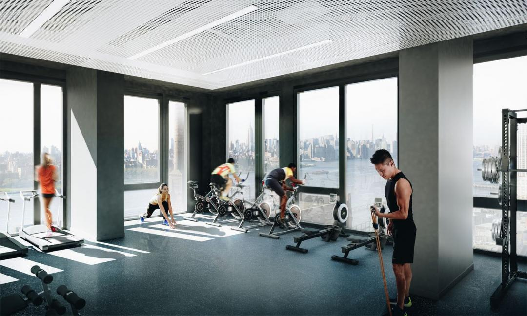 Fitness Center at 325 Kent Avenue in Williamsburg