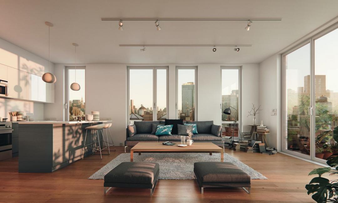 Apartments for rent at 325 Kent Avenue Brooklyn - Living Room