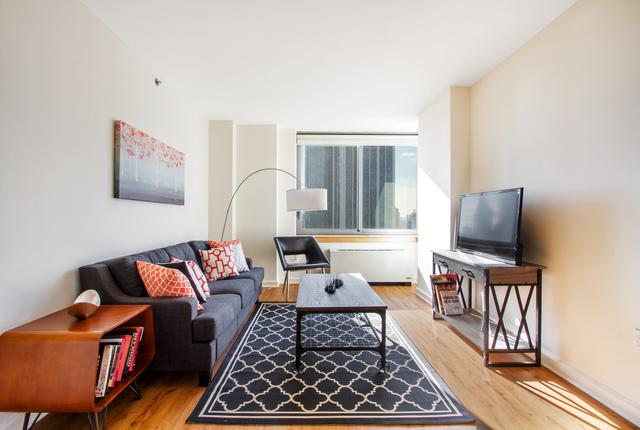 The Magellan Living Room - Manhattan Apartments for rent