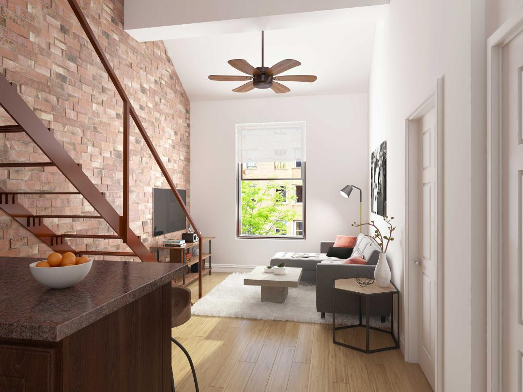 Living Room at 351 West 14th Street in 	Chelsea