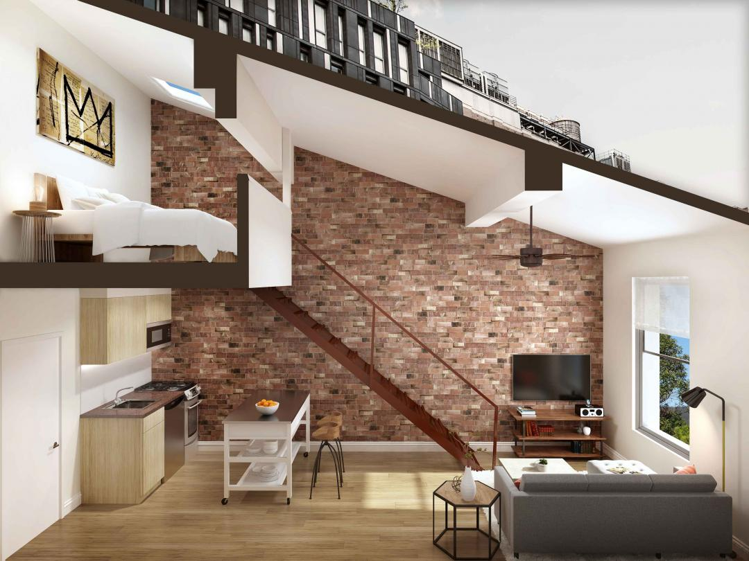 Living Area at 351 West 14th Street in Manhattan