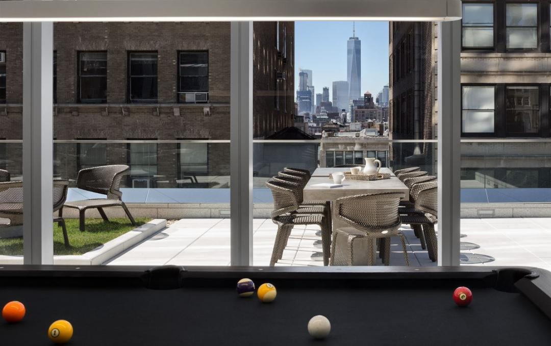 Billiard room with view - 35 West 15th Street