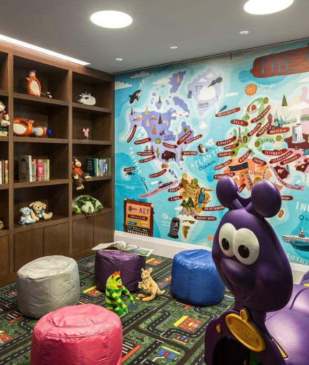 Children's playroom at 35 West 15th Street