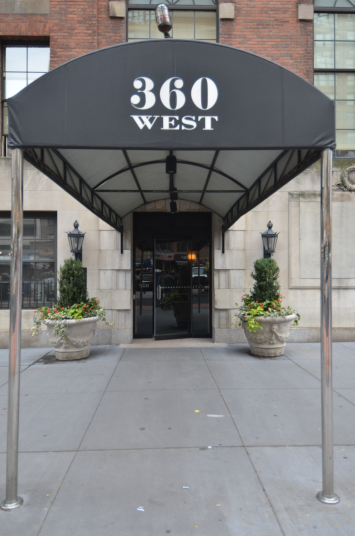 The Building's Entry at 360 West 34th Street in Manhattan