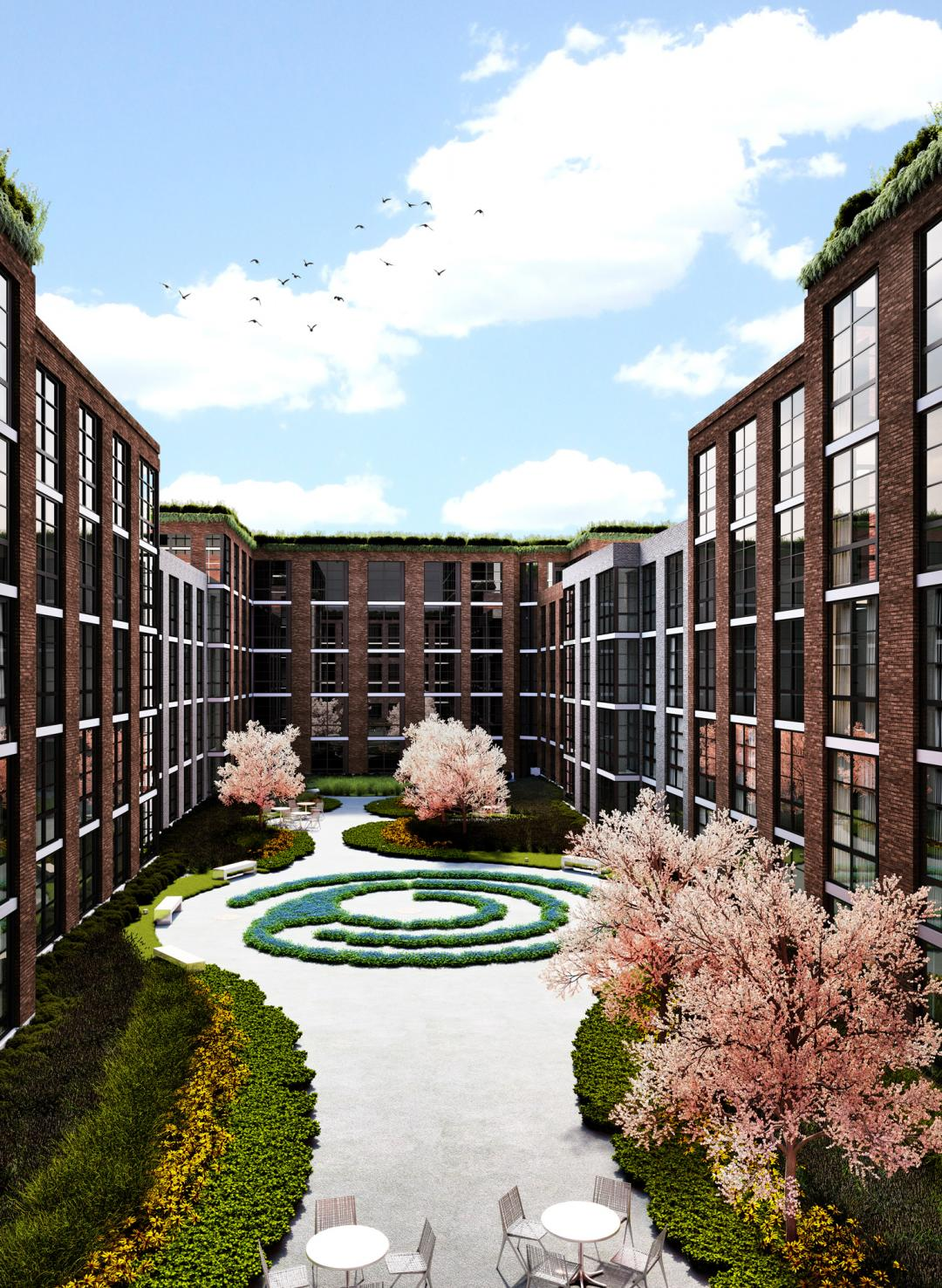 Courtyard at 363-365 Bond Street in Gowanus - Apartments for rent