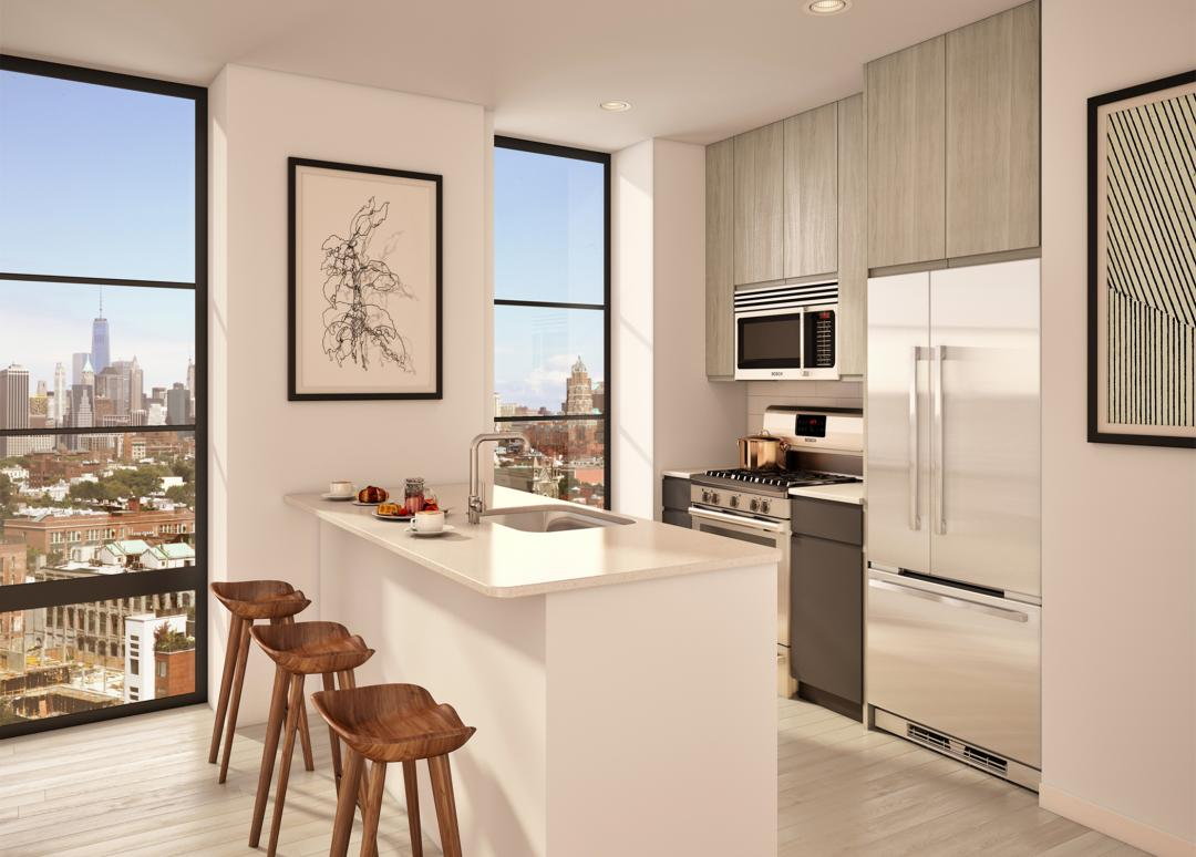 Open Kitchen at 363-365 Bond Street in NYC - Apartments for rent