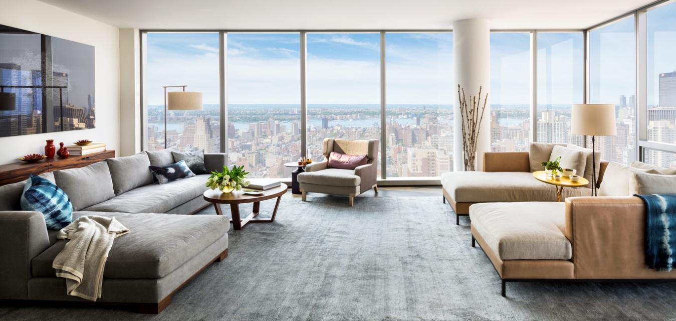 389 East 89th Street Living Room - Manhattan Rental Apartments