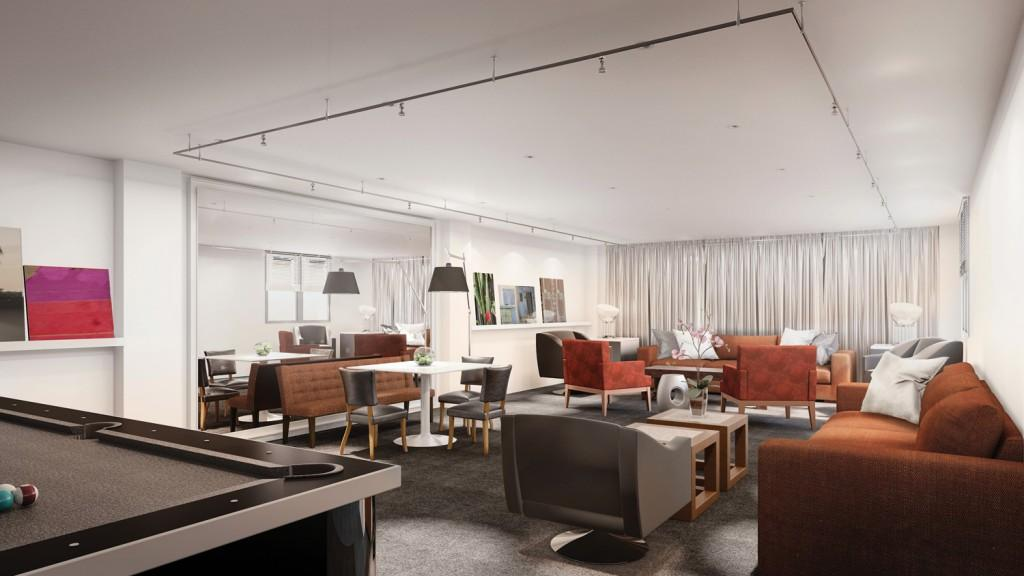 Lounge at 393 West End Avenue in Upper West Side