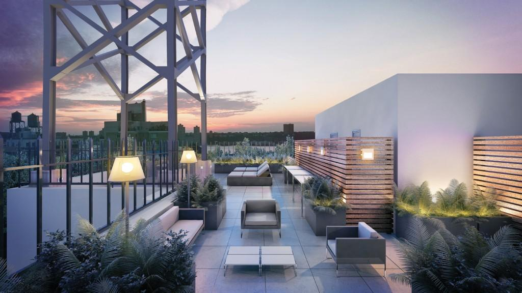 Rooftop Deck at 393 West End Avenue in NYC