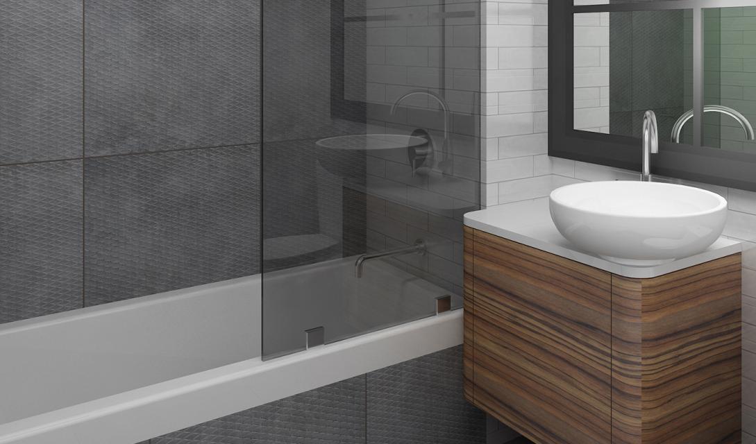 The Bathroom at 395 Leonard Street