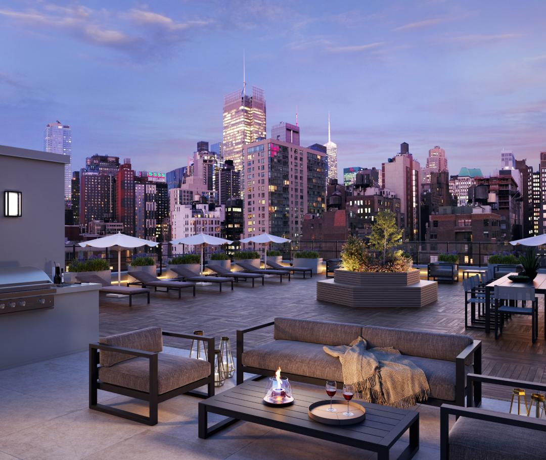 Apartments for rent at The Lewis in Hudson Yards - Rooftop Terrace