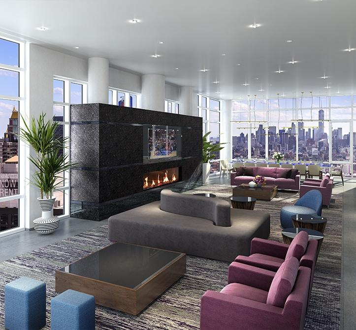Apartments for rent at Solari in NYC - Lounge