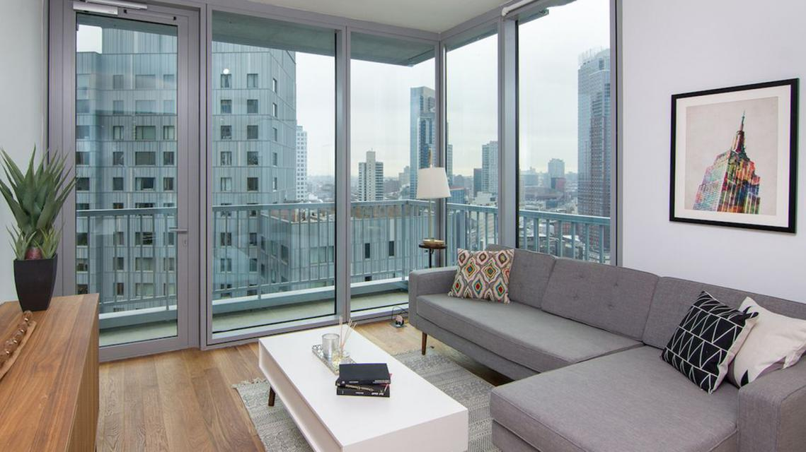 Living Room at 430 Albee Square - Downtown Brooklyn Apartment Rentals