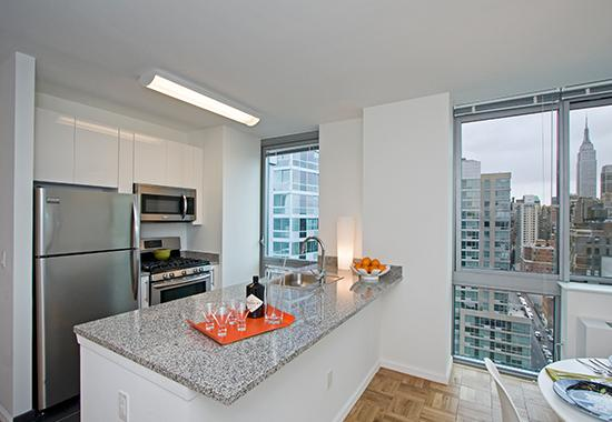 Open Kitchen at 455 West 37th Street in Manhattan - Condos for rent