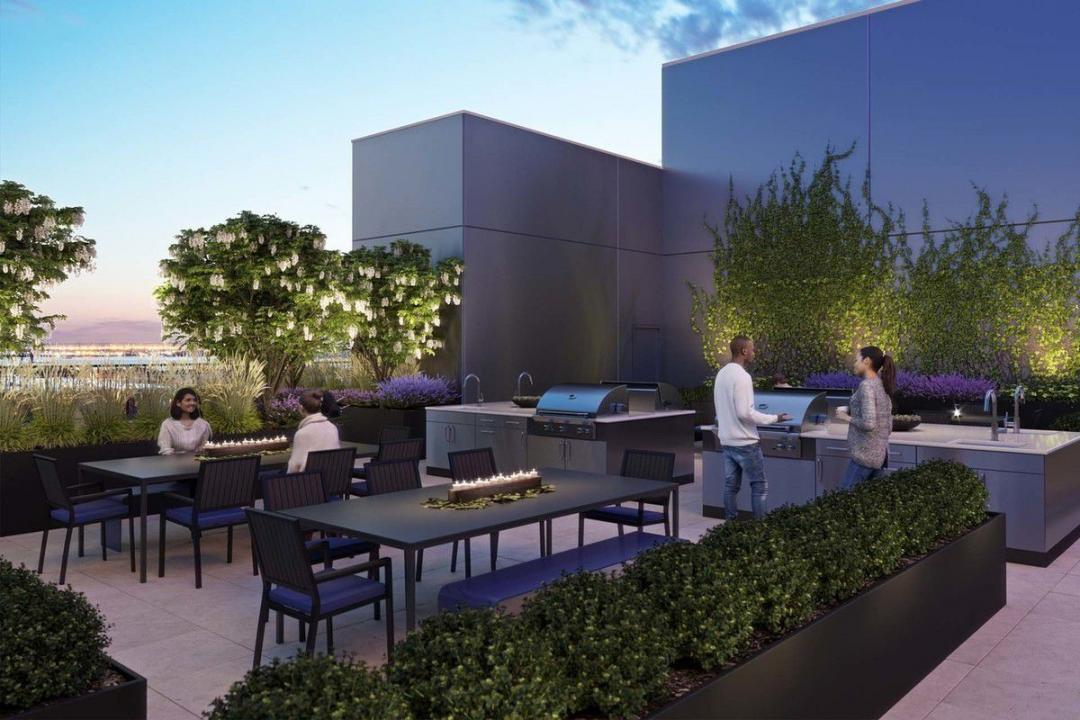 Apartments for rent at 45 Hoyt Street in NYC - Grill stations and dining areas