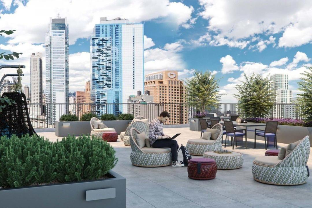 Rooftop Terrace at Hoyt and Horn in Downtown Brooklyn - Apartments for rent