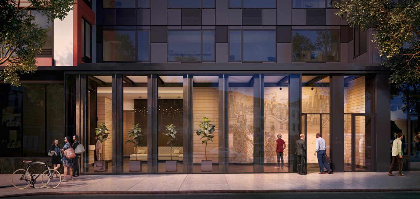 The Building's entry at 461 Dean Street in NYC