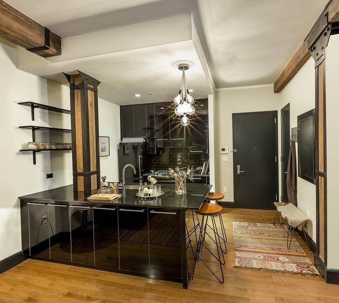 Kitchen at 487 Keap Point Rental Apartments