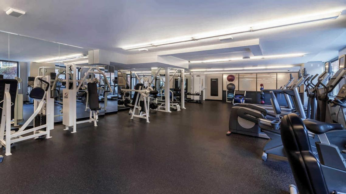 505 West 54th Street rental building Gym - NYC Flats