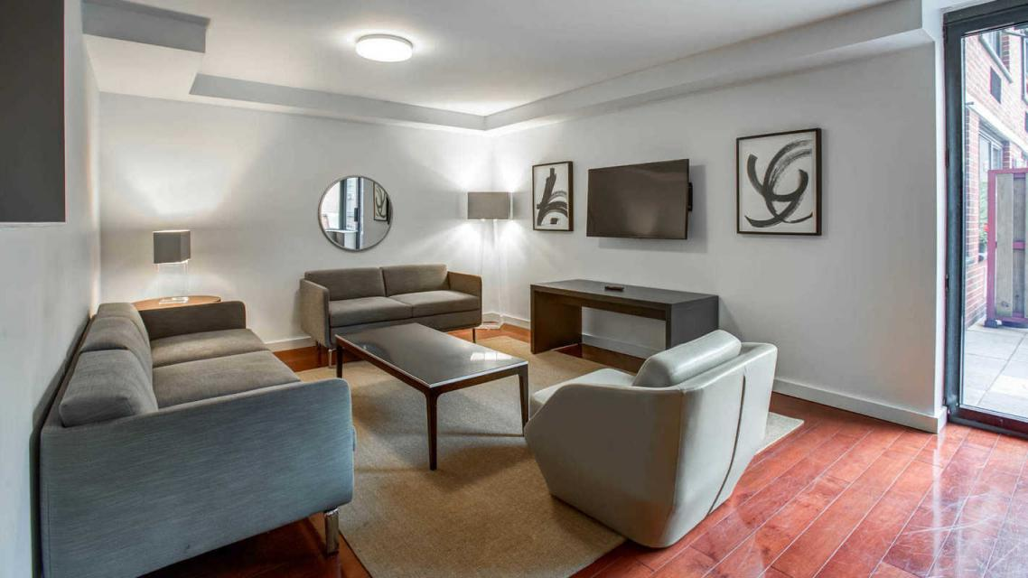 Rental Apartments at 505 West 54th Street Living Room