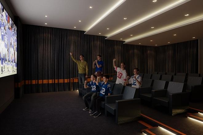 Private Screening Room at 50 Riverside Boulevard in Manhattan