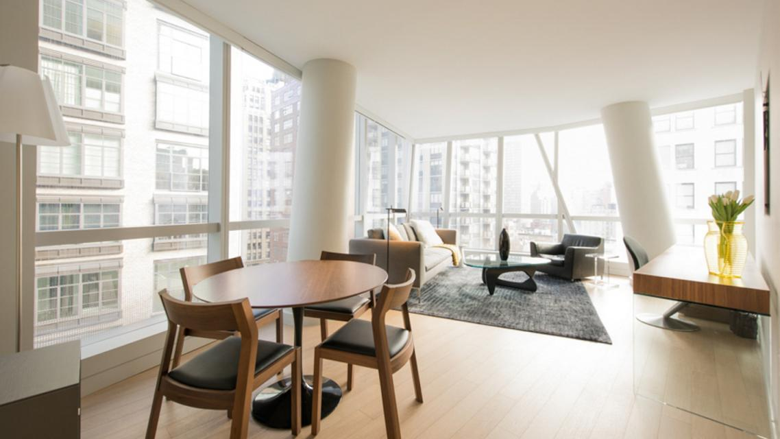 Living Area at 50 East 28th Street in Nomad - Apartments for rent