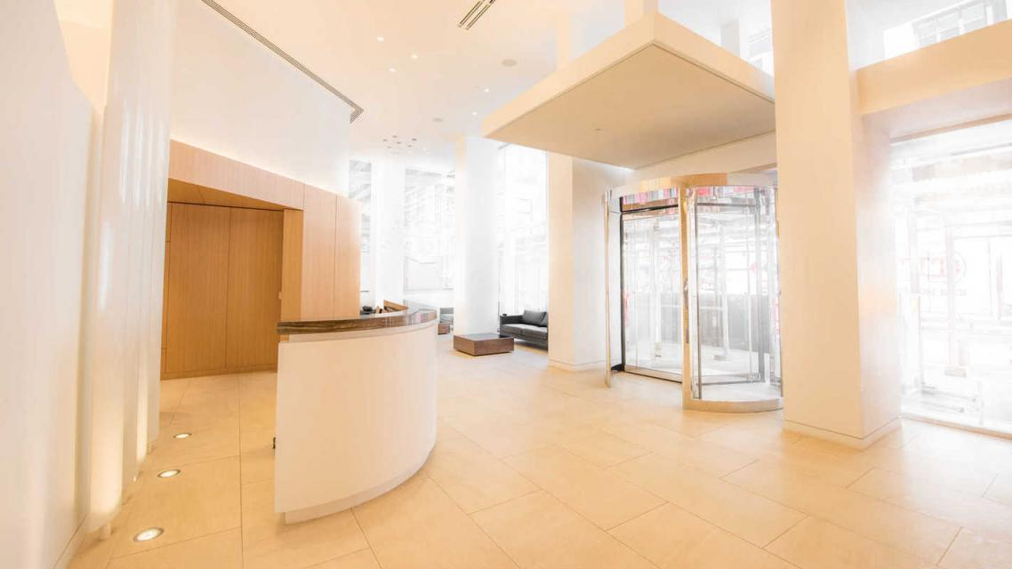 The building's lobby at 50 East 28th Street in NYC