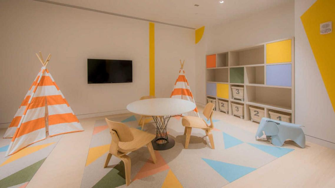 Children's playroom at 50 East 28th Street in Manhattan