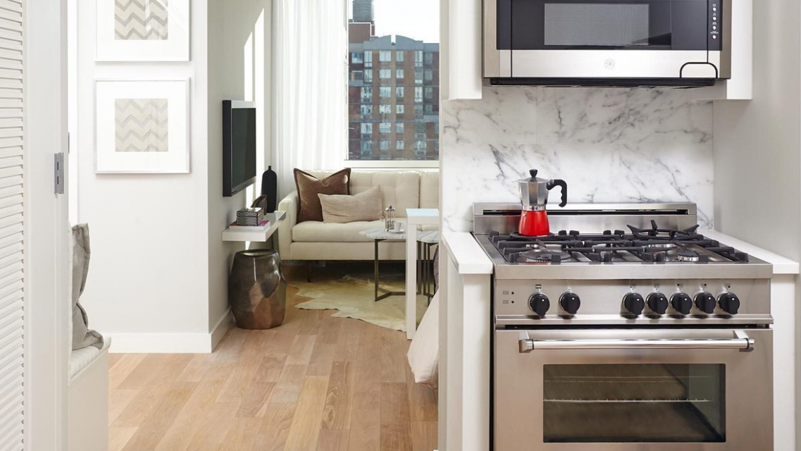 515 Ninth Avenue Cassa Residences NYC Luxury Rentals Kitchen