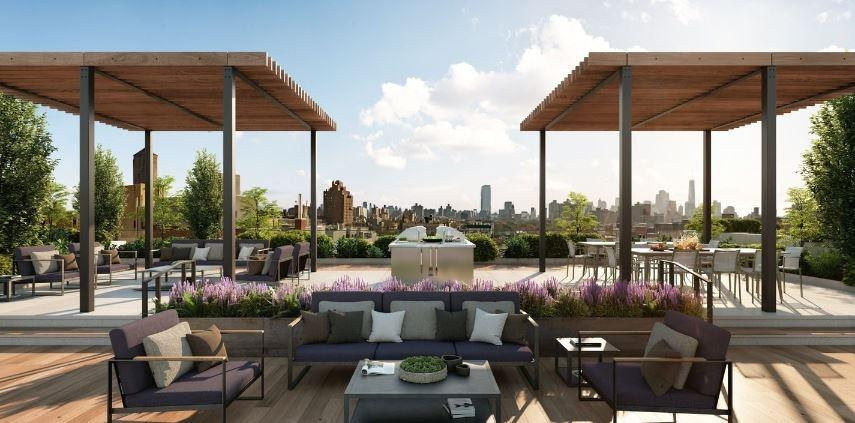 The rooftop at 524 East 14th Street