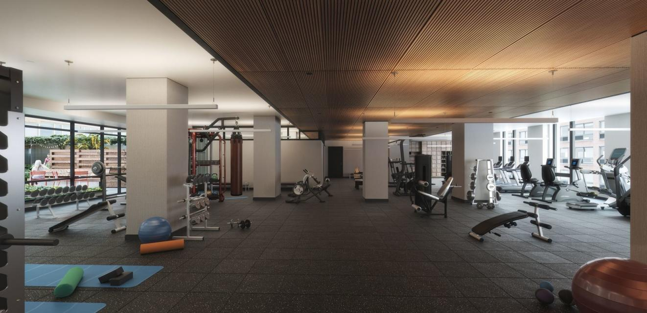 Fitness Center at 525 West 52nd Street in Hell's Kitchen