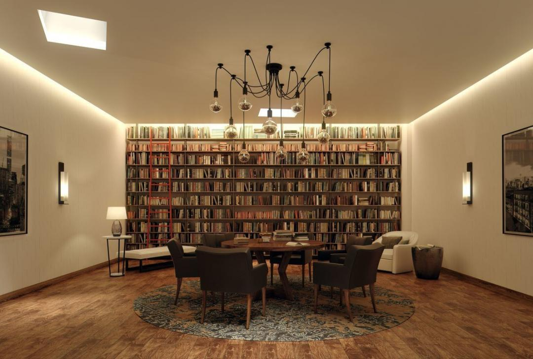Library at 525 West 52nd Street in NYC - Apartments for rent