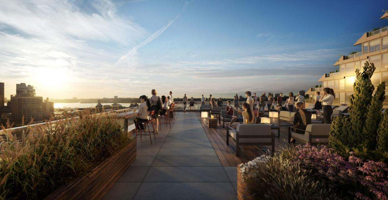 Rooftop Lounge and Sundeck at 525 West 52nd Street in Hell's Kitchen