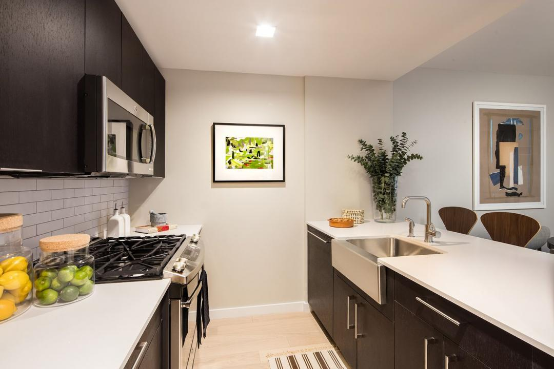 Open Kitchen at 535 West 43rd Street in Clinton - Apartments for sale