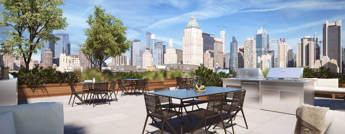 Rooftop Garden at 535 West 43rd Street in Clinton
