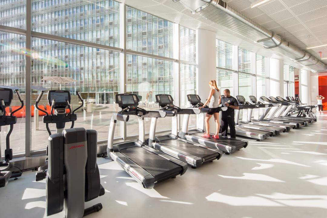 Gym at Mercedes House in NYC - Apartments for rent