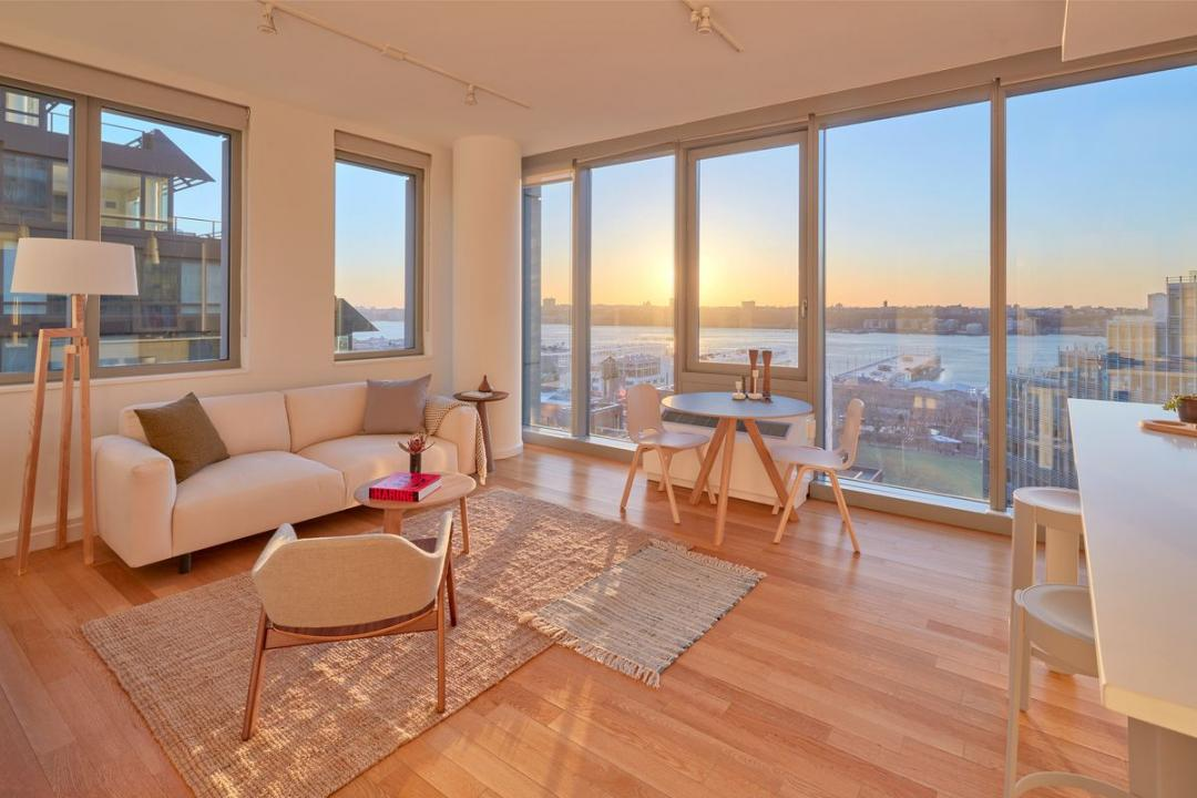 Living Room at Mercedes House in NYC - Apartments for rent