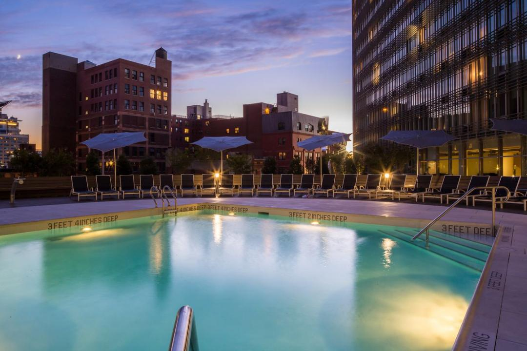 Pool at Mercedes House in NYC - Apartments for rent