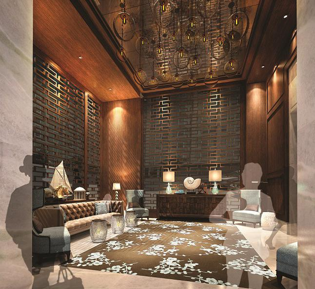 Lounge at 555 Tenth Avenue in NYC - Condos for rent