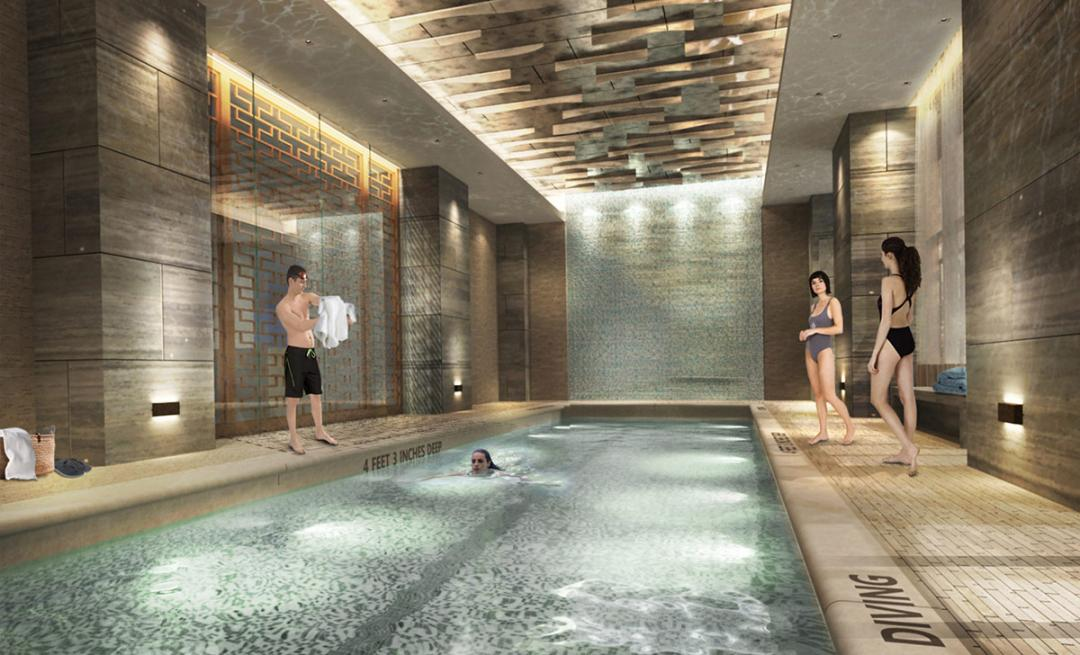 Swimming Pool at 555 Tenth Avenue in NYC