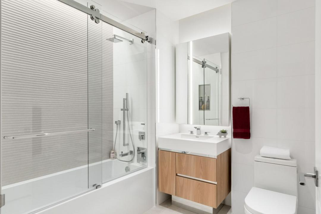 The Building's Bathroom at Oskar in NYC - Apartments for rent