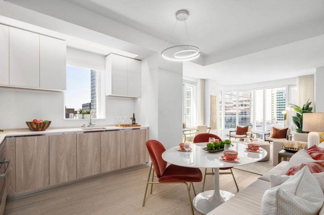 Dining Room and Kitchen at Oskar in NYC - Apartments for rent