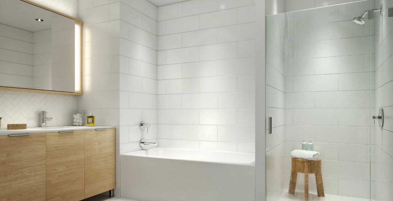 Bathroom at 625 West 57th Street in Manhattan - Apartments for rent