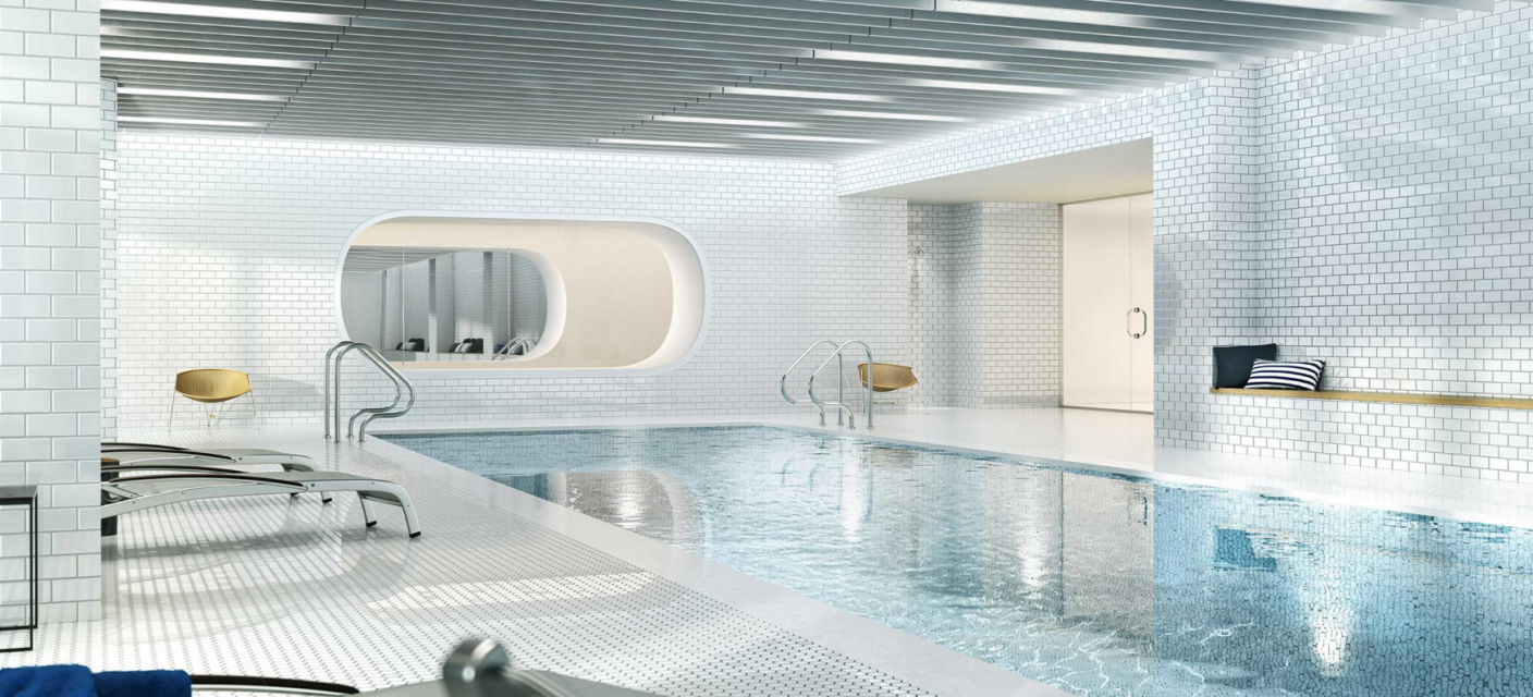 Wide variety of amenities at VIA 57th WEST in Midtown West - Pool