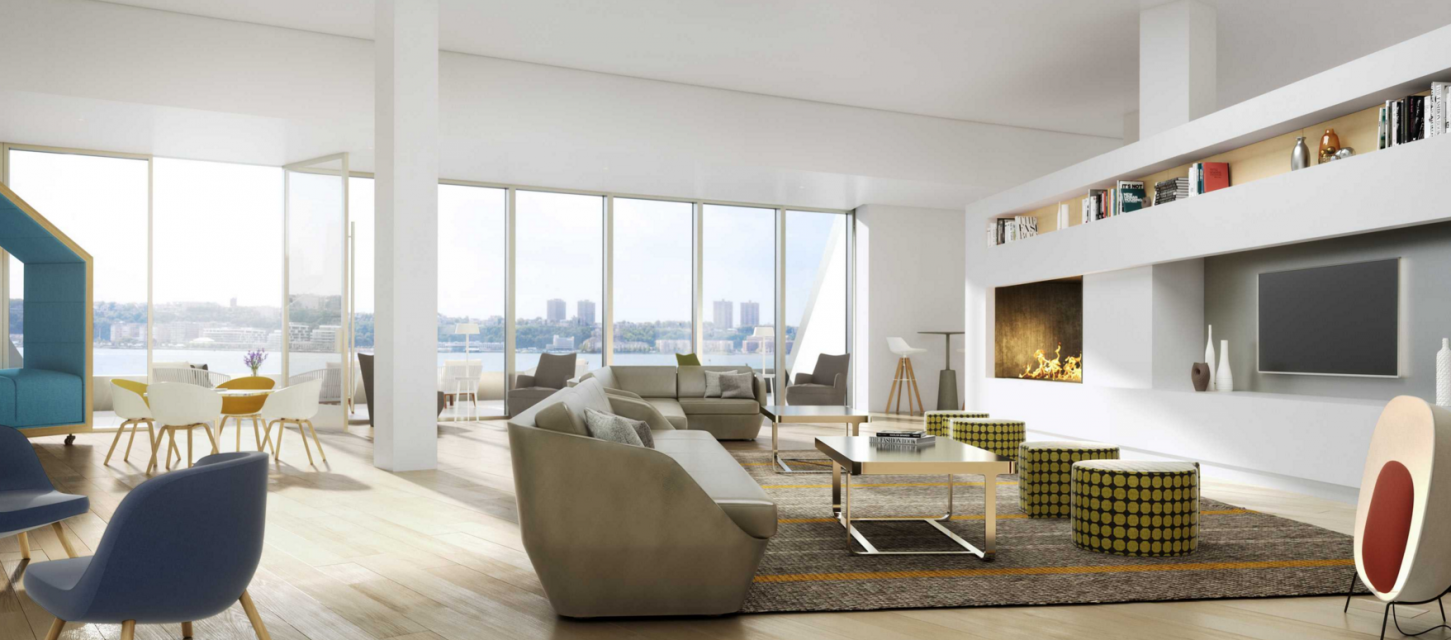 Lounge at 625 West 57th Street in NYC - Apartments for rent