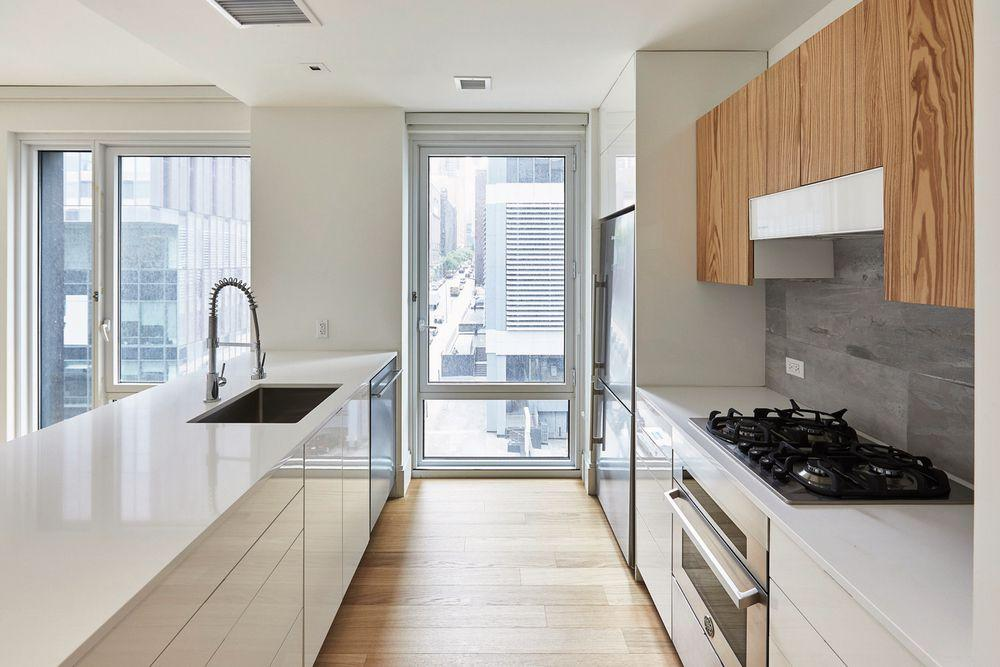 Open Kitchen at 600 West 58th Street in NYC - Apartments for rent