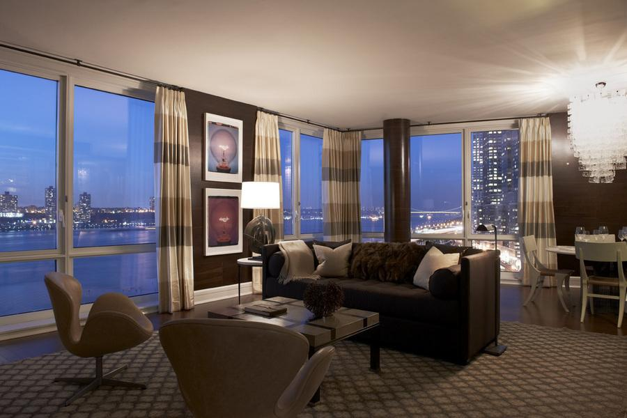 Living Room with View - The Aldyn Rentals on the Upper West Side