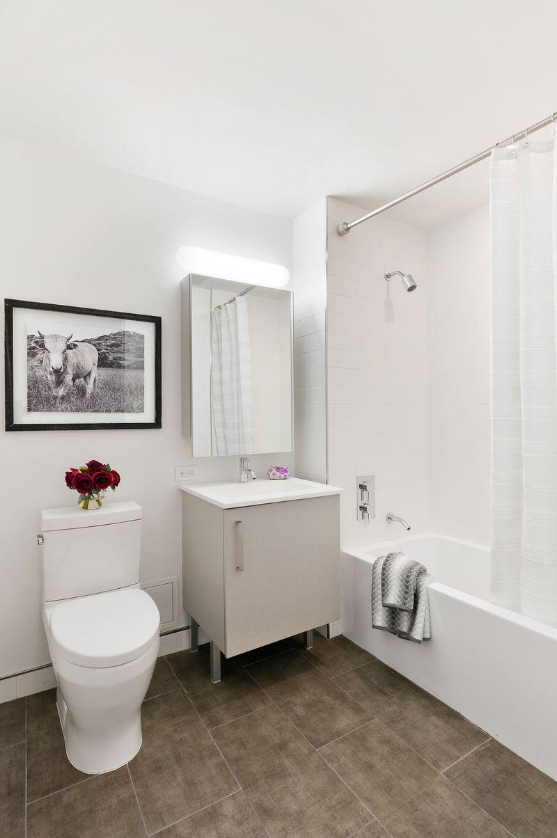 Bathroom at Exhibit in NYC - Apartments for rent